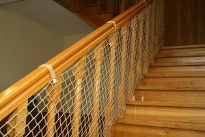 Siatka na schody beżowa – balustrada