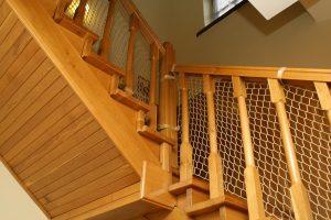 Siatka zabezpieczająca na schody