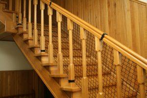 Siatka zabezpieczająca schody