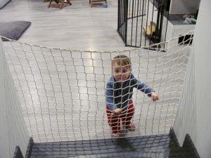 Siatka bramka zabezpieczenie dziecka