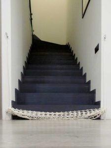 Zwinięta siatka na schody